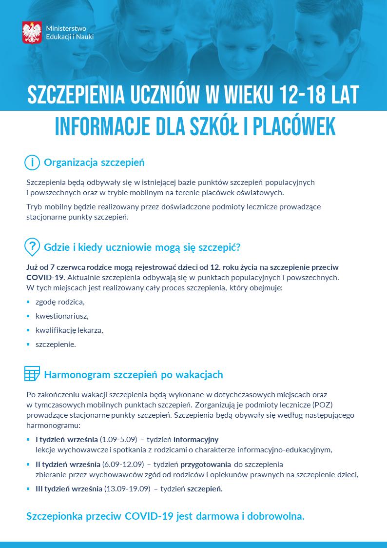 Informacje o szczepieniach